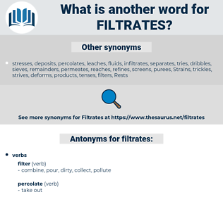 filtrates, synonym filtrates, another word for filtrates, words like filtrates, thesaurus filtrates