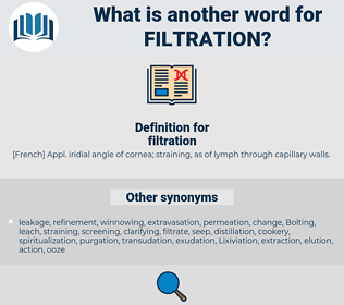 filtration, synonym filtration, another word for filtration, words like filtration, thesaurus filtration