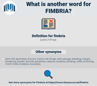 fimbria, synonym fimbria, another word for fimbria, words like fimbria, thesaurus fimbria