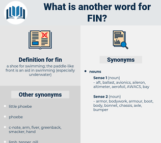 fin, synonym fin, another word for fin, words like fin, thesaurus fin