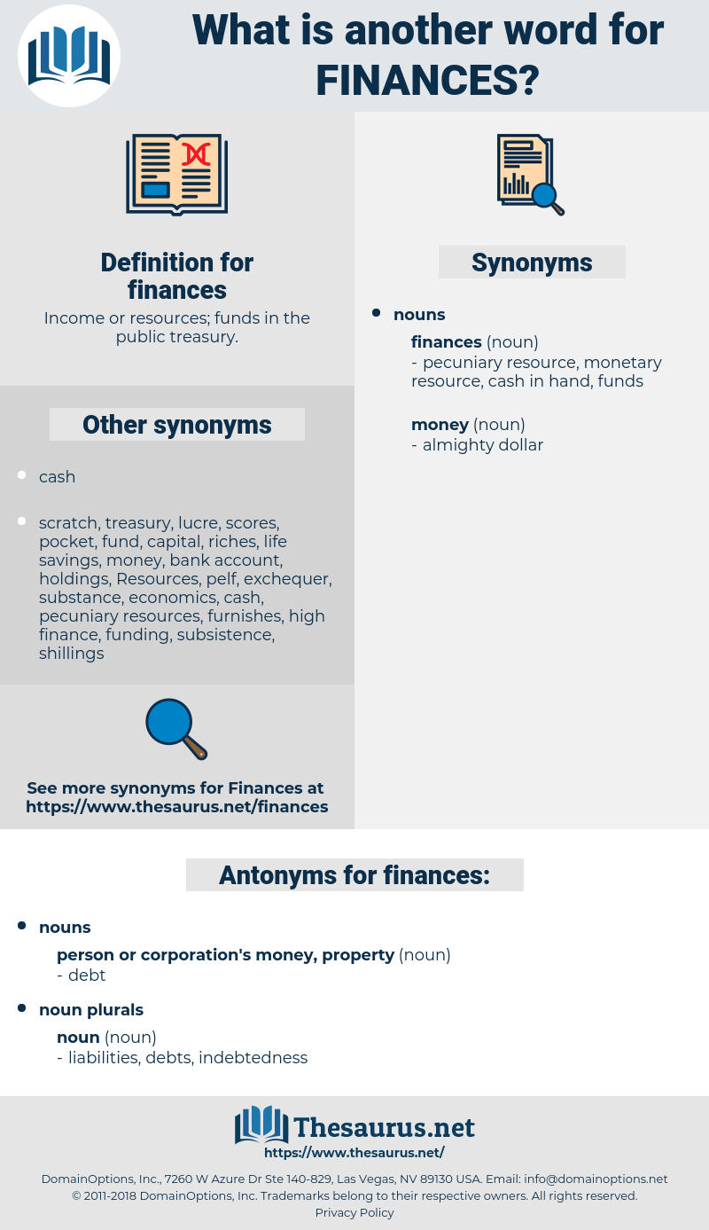finances, synonym finances, another word for finances, words like finances, thesaurus finances