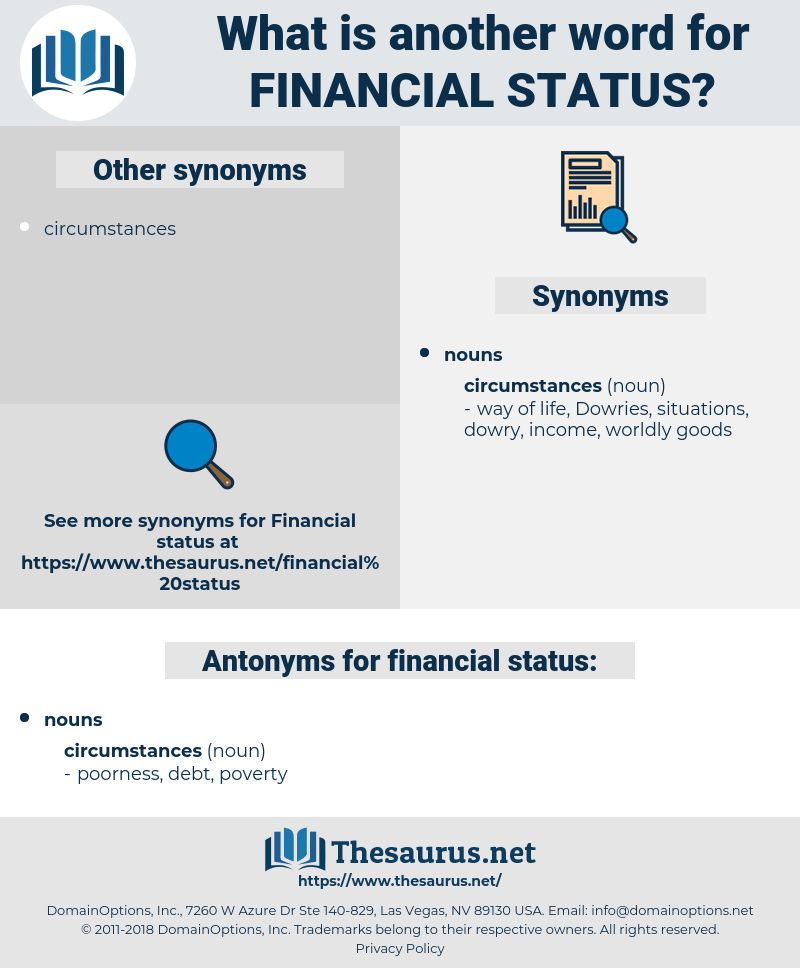 financial status, synonym financial status, another word for financial status, words like financial status, thesaurus financial status