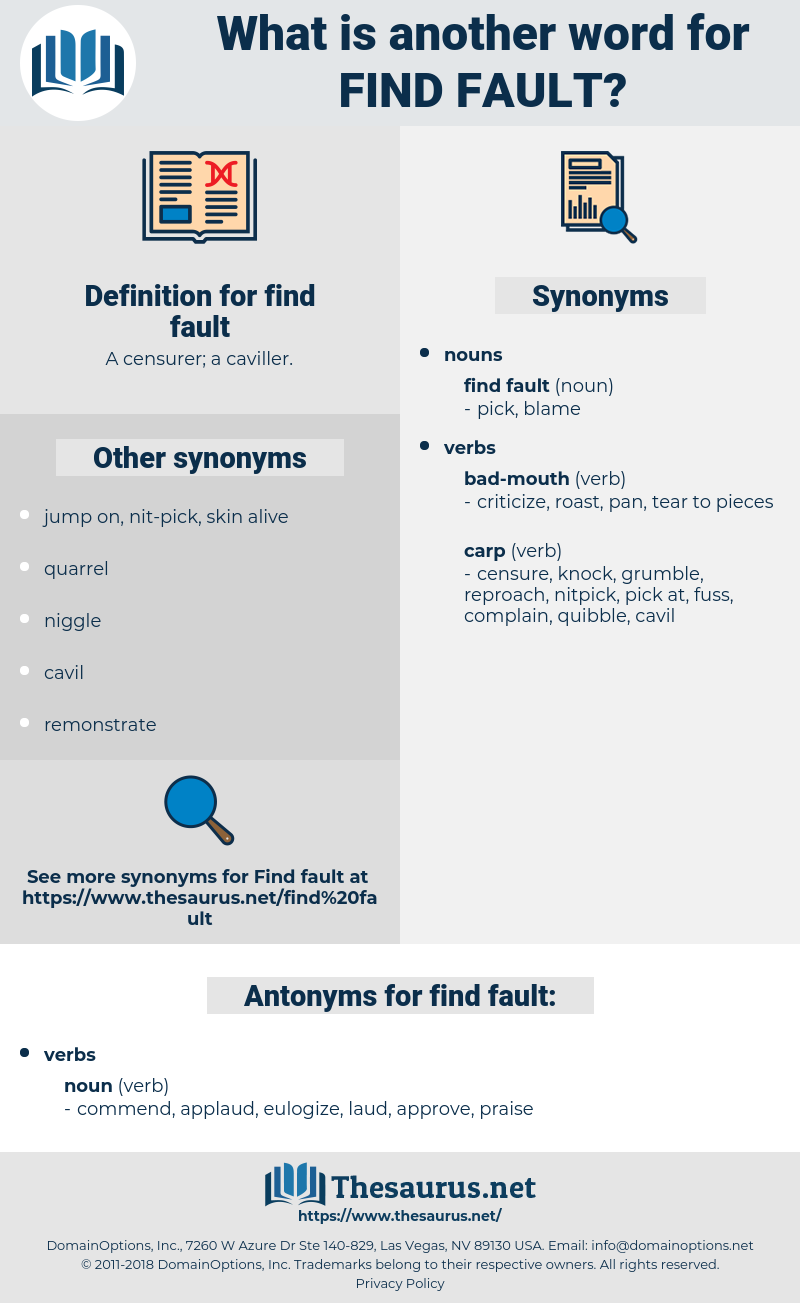 find fault, synonym find fault, another word for find fault, words like find fault, thesaurus find fault