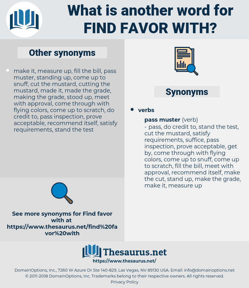 find favor with, synonym find favor with, another word for find favor with, words like find favor with, thesaurus find favor with
