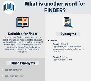 finder, synonym finder, another word for finder, words like finder, thesaurus finder
