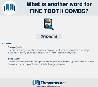 fine-tooth-combs, synonym fine-tooth-combs, another word for fine-tooth-combs, words like fine-tooth-combs, thesaurus fine-tooth-combs