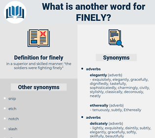finely, synonym finely, another word for finely, words like finely, thesaurus finely
