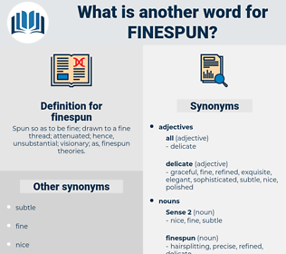 finespun, synonym finespun, another word for finespun, words like finespun, thesaurus finespun