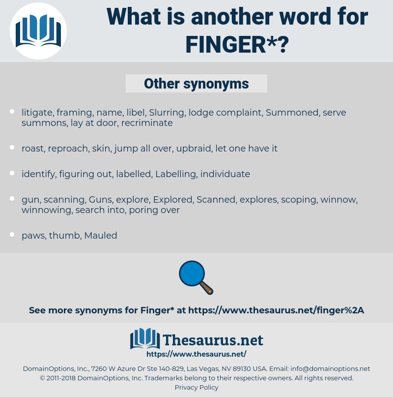 finger, synonym finger, another word for finger, words like finger, thesaurus finger