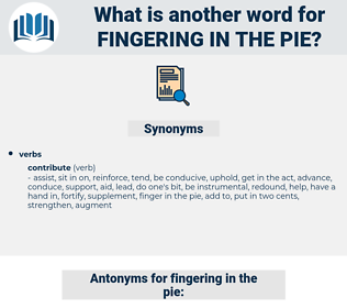 fingering in the pie, synonym fingering in the pie, another word for fingering in the pie, words like fingering in the pie, thesaurus fingering in the pie