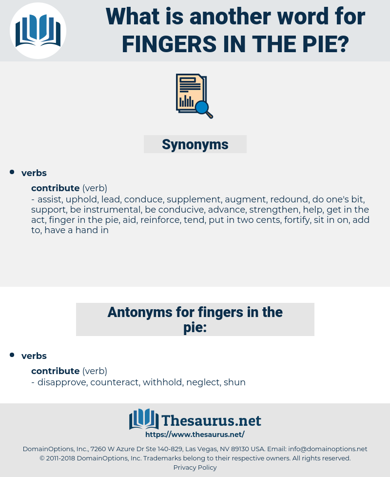 fingers in the pie, synonym fingers in the pie, another word for fingers in the pie, words like fingers in the pie, thesaurus fingers in the pie