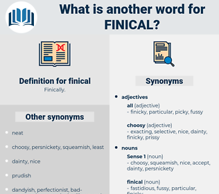finical, synonym finical, another word for finical, words like finical, thesaurus finical