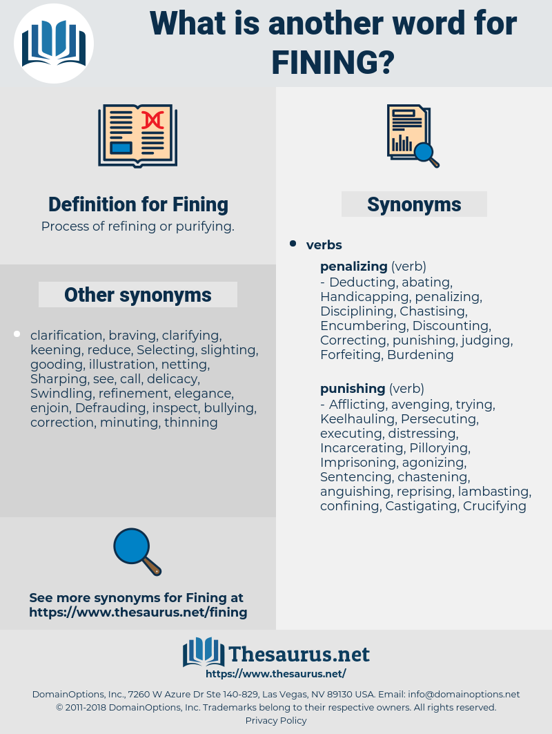 Fining, synonym Fining, another word for Fining, words like Fining, thesaurus Fining