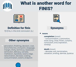finis, synonym finis, another word for finis, words like finis, thesaurus finis