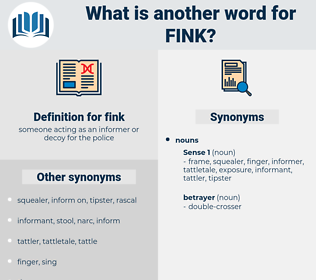 fink, synonym fink, another word for fink, words like fink, thesaurus fink