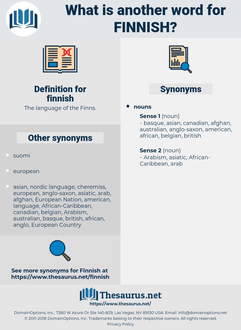 finnish, synonym finnish, another word for finnish, words like finnish, thesaurus finnish