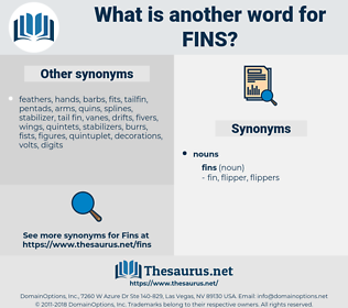 fins, synonym fins, another word for fins, words like fins, thesaurus fins