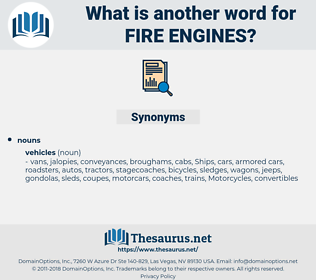 fire engines, synonym fire engines, another word for fire engines, words like fire engines, thesaurus fire engines