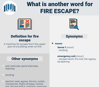 fire escape, synonym fire escape, another word for fire escape, words like fire escape, thesaurus fire escape