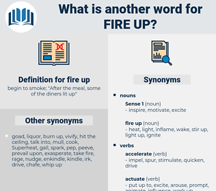 fire up, synonym fire up, another word for fire up, words like fire up, thesaurus fire up