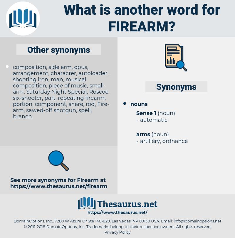 firearm, synonym firearm, another word for firearm, words like firearm, thesaurus firearm