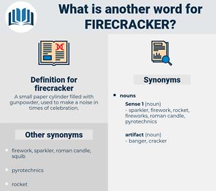 firecracker, synonym firecracker, another word for firecracker, words like firecracker, thesaurus firecracker