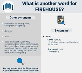 firehouse, synonym firehouse, another word for firehouse, words like firehouse, thesaurus firehouse