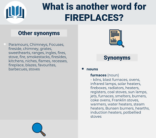 fireplaces, synonym fireplaces, another word for fireplaces, words like fireplaces, thesaurus fireplaces