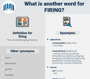 firing, synonym firing, another word for firing, words like firing, thesaurus firing