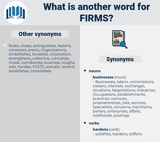 Firms, synonym Firms, another word for Firms, words like Firms, thesaurus Firms
