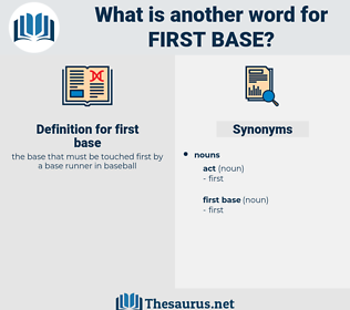first base, synonym first base, another word for first base, words like first base, thesaurus first base