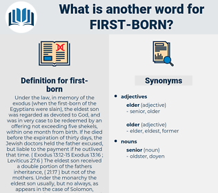 first born, synonym first born, another word for first born, words like first born, thesaurus first born