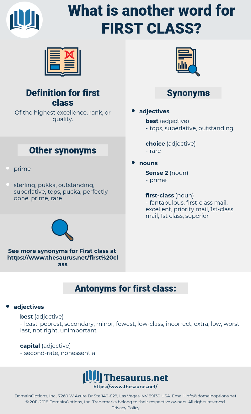 first class, synonym first class, another word for first class, words like first class, thesaurus first class