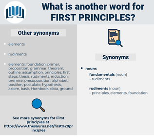 first principles, synonym first principles, another word for first principles, words like first principles, thesaurus first principles