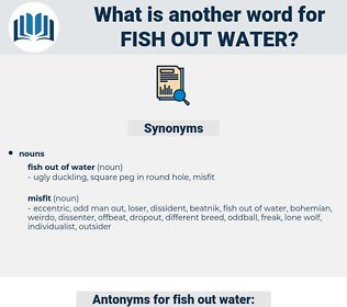 fish out water, synonym fish out water, another word for fish out water, words like fish out water, thesaurus fish out water