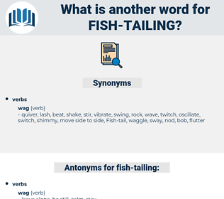 fish tailing, synonym fish tailing, another word for fish tailing, words like fish tailing, thesaurus fish tailing