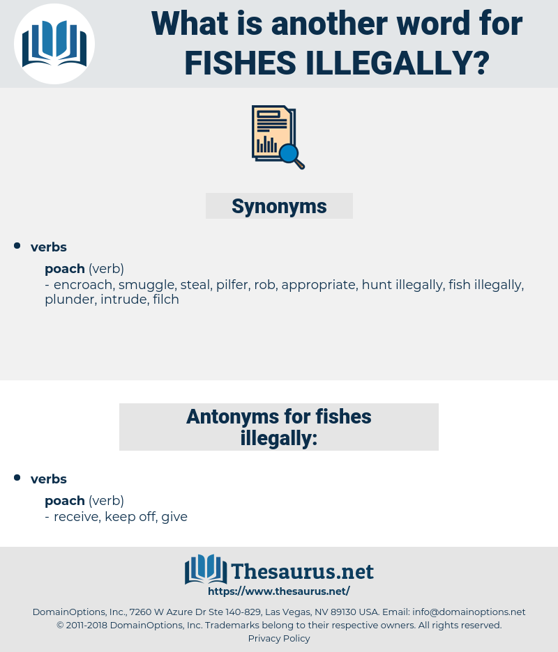 fishes illegally, synonym fishes illegally, another word for fishes illegally, words like fishes illegally, thesaurus fishes illegally