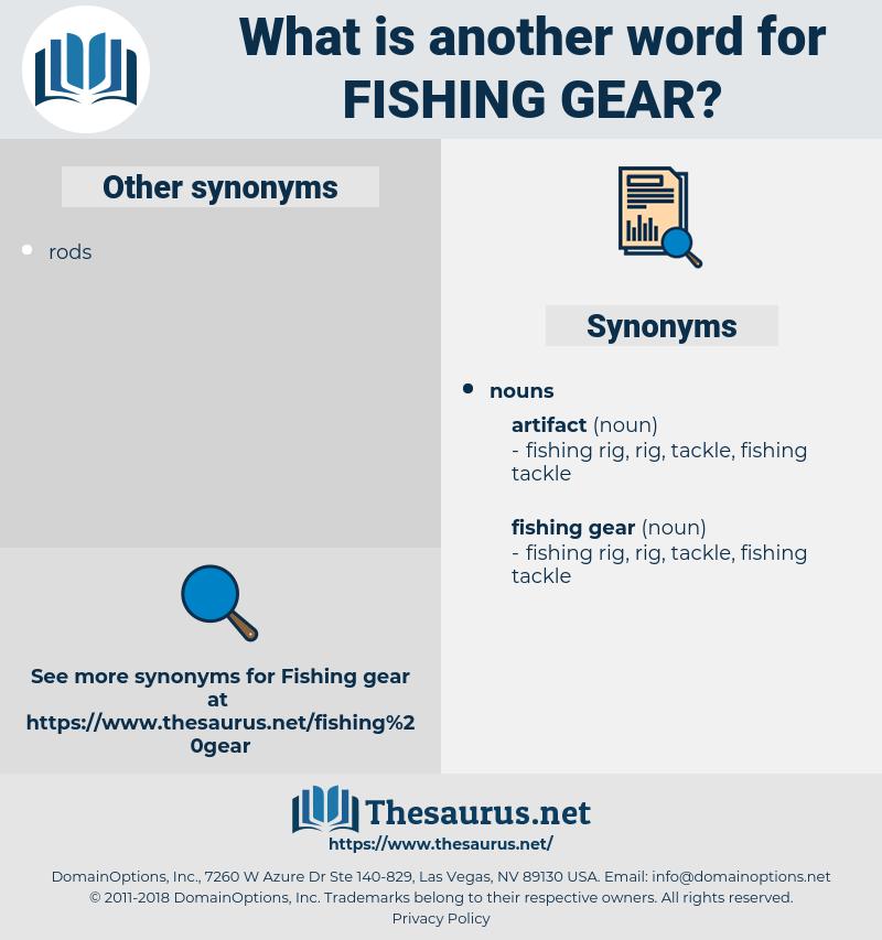 fishing gear, synonym fishing gear, another word for fishing gear, words like fishing gear, thesaurus fishing gear