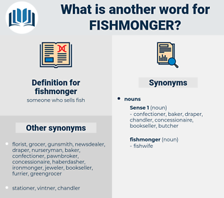 fishmonger, synonym fishmonger, another word for fishmonger, words like fishmonger, thesaurus fishmonger
