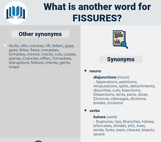 fissures, synonym fissures, another word for fissures, words like fissures, thesaurus fissures