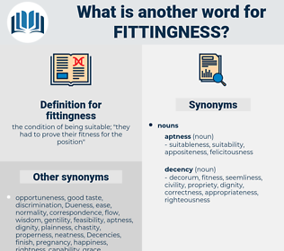 fittingness, synonym fittingness, another word for fittingness, words like fittingness, thesaurus fittingness