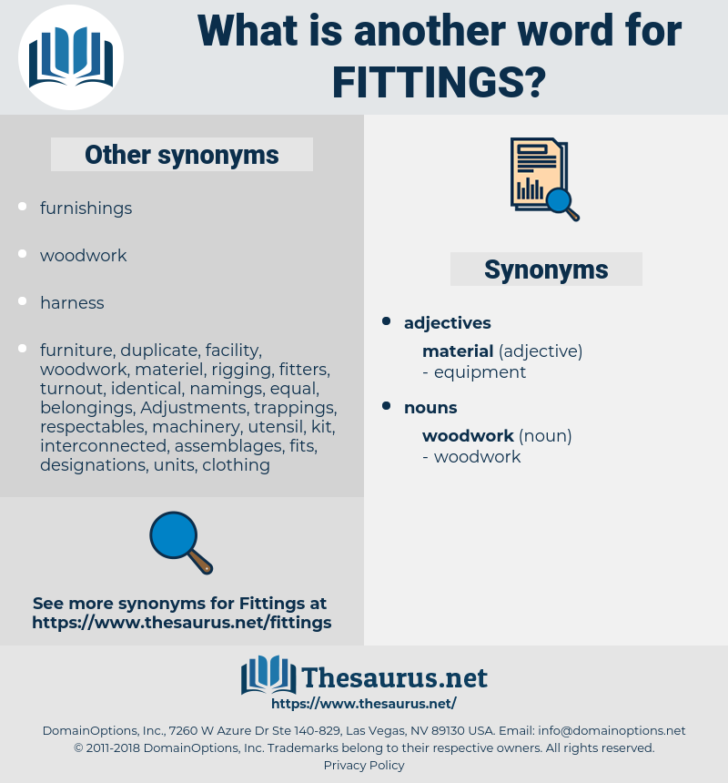 fittings, synonym fittings, another word for fittings, words like fittings, thesaurus fittings