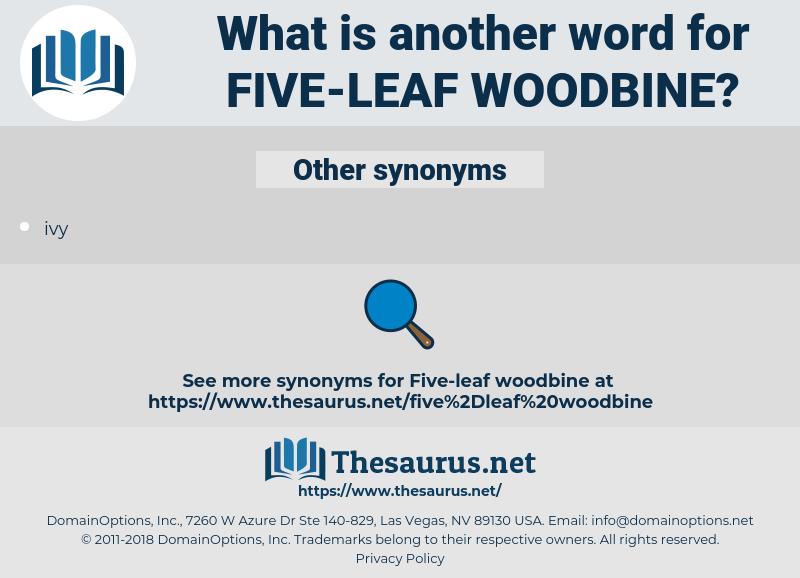 five-leaf woodbine, synonym five-leaf woodbine, another word for five-leaf woodbine, words like five-leaf woodbine, thesaurus five-leaf woodbine
