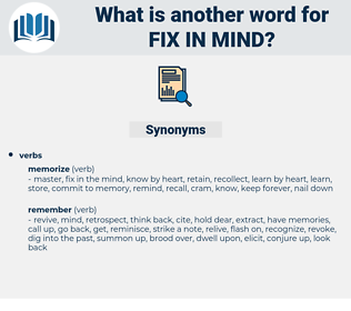 fix in mind, synonym fix in mind, another word for fix in mind, words like fix in mind, thesaurus fix in mind