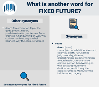 fixed future, synonym fixed future, another word for fixed future, words like fixed future, thesaurus fixed future
