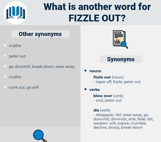 fizzle out, synonym fizzle out, another word for fizzle out, words like fizzle out, thesaurus fizzle out