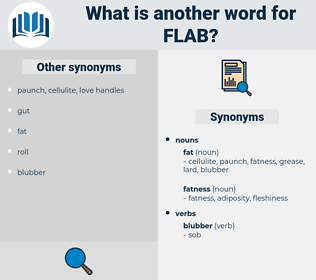 flab, synonym flab, another word for flab, words like flab, thesaurus flab