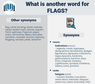 flags, synonym flags, another word for flags, words like flags, thesaurus flags