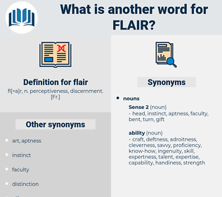 flair, synonym flair, another word for flair, words like flair, thesaurus flair