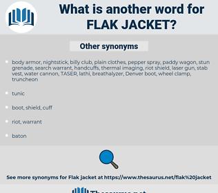 flak jacket, synonym flak jacket, another word for flak jacket, words like flak jacket, thesaurus flak jacket
